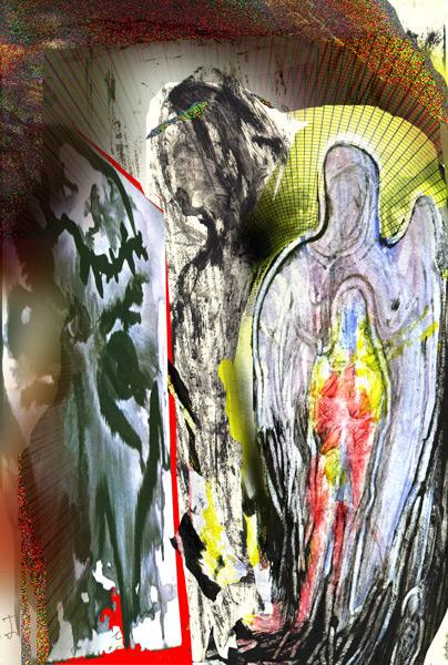 Abstract artist Yuri Lushnichenko - Archangel