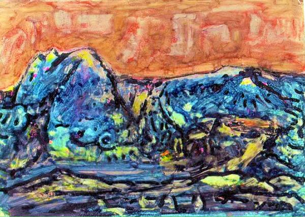 Abstract artist Yuri Lushnichenko - Blue Mountains