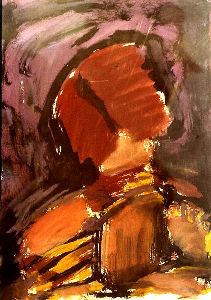 Abstract artist Yuri Lushnichenko - Village