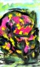 Abstract artist Yuri Lushnichenko - In love foxes