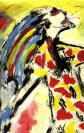 Abstract artist Yuri Lushnichenko - In sundress