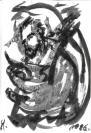 Abstract artist Yuri Lushnichenko - 1996