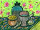 Abstract artist Yuri Lushnichenko - Still life with meditation