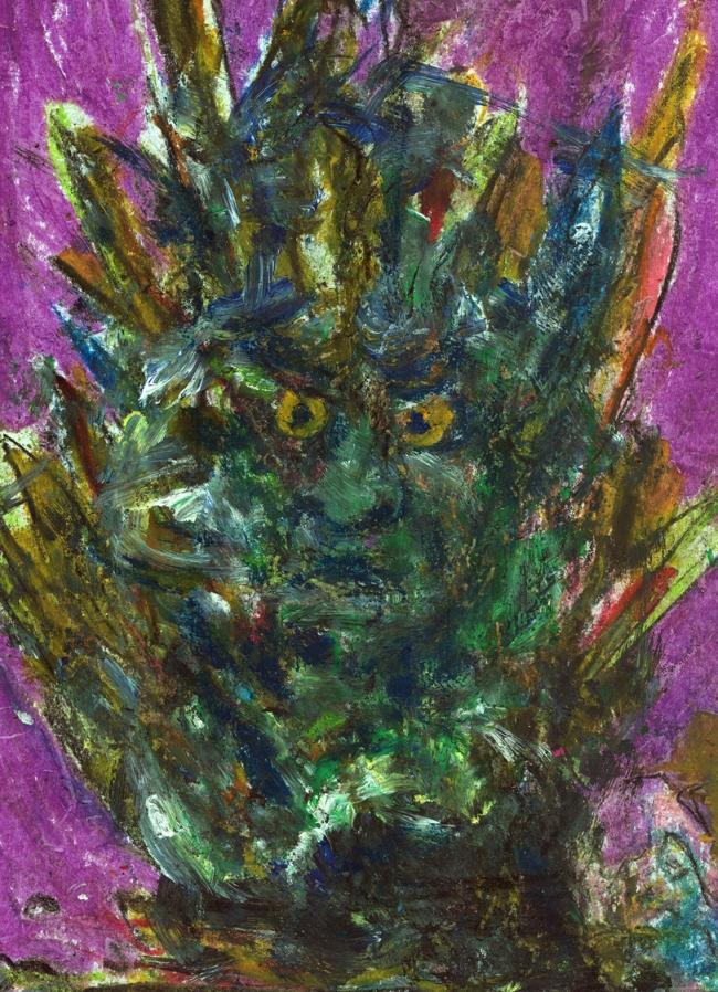 Abstract artist Yuri Lushnichenko - Tales of the old troll