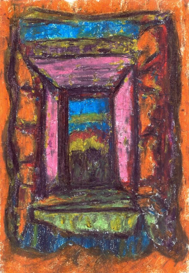 Abstract artist Yuri Lushnichenko - The past is the future through the present